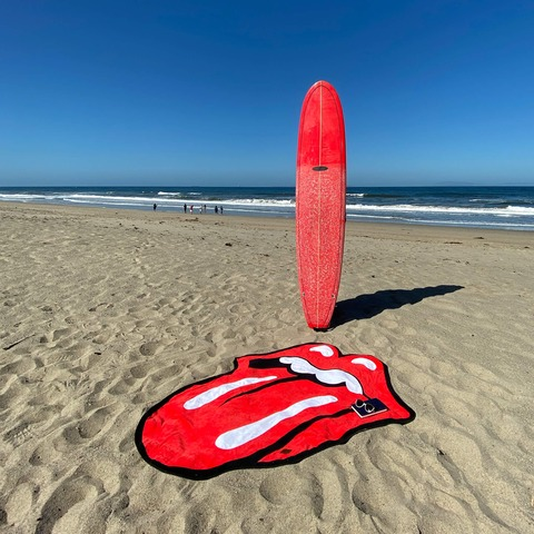Slowtide x The Rolling Stones Classic Tongue by The Rolling Stones - beach towel - shop now at Rolling Stones store