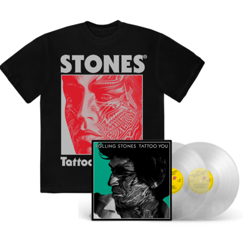 Tattoo You (40th Remastered Deluxe 2LP D2C / Store Exclusive Clear Vinyl) + Black Shirt by The Rolling Stones -  - shop now at Rolling Stones store