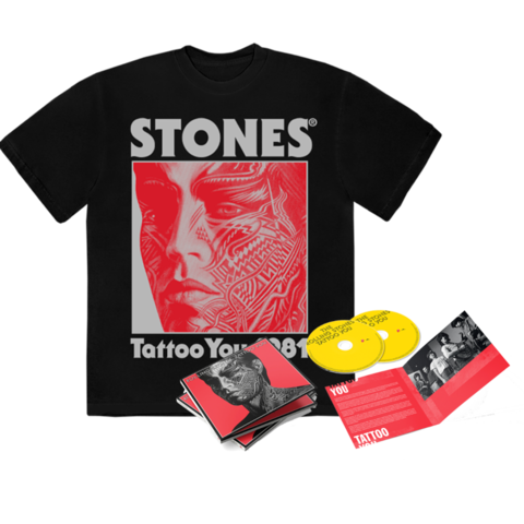 Tattoo You (40th Anniversary Remastered Deluxe CD) + Black Shirt by The Rolling Stones - CD-Bundle - shop now at Rolling Stones store