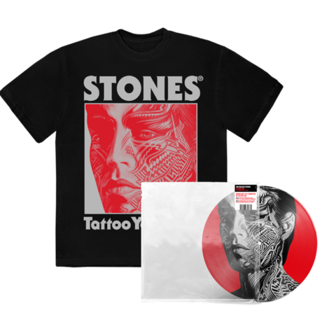 Tattoo You (40th Anniversary Remastered Picture Disc / D2C) + Black Shirt by The Rolling Stones - LP-Bundle - shop now at Rolling Stones store