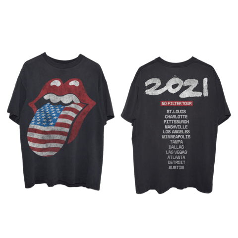 No Filter 2021 USA Flag Tongue by The Rolling Stones - t-shirt - shop now at Rolling Stones store