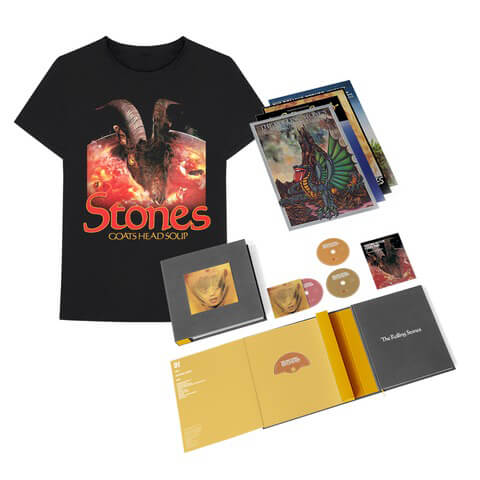 "√Goats Head Soup (2020 Super Deluxe Box Set + ""Goat Head"" Tee) von The Rolling Stones - CD Bundle jetzt im Rolling Stones Shop"