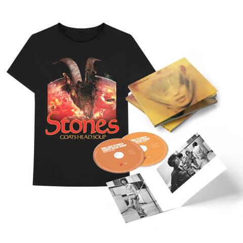 "√Goats Head Soup (2020 Deluxe CD + ""Goat Head"" T-Shirt) von The Rolling Stones - CD Bundle jetzt im Rolling Stones Shop"
