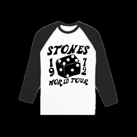 √1972 Dice von The Rolling Stones - Longsleeve 3/4 Raglan jetzt im Rolling Stones Shop