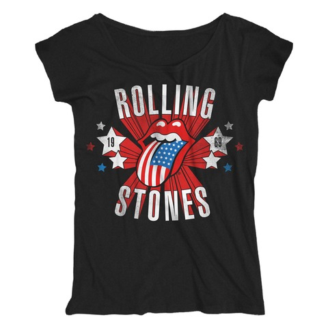 √Star Spangled Tongue von The Rolling Stones - Loose Fit Girlie Shirt jetzt im Rolling Stones Shop